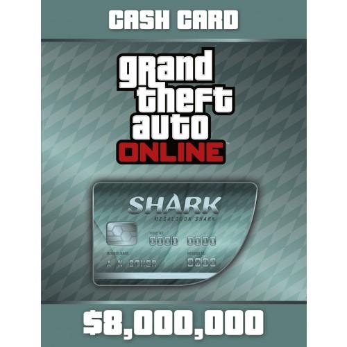 GTA Grand Theft Auto V Online CashCard Megalodon (8.000.000 $)