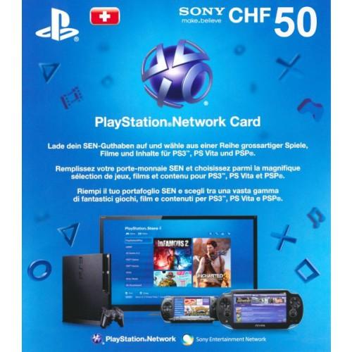 PlayStation Network Card 50 CHF Schweiz
