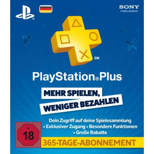 Playstation Plus Live Card 365 Tage Deutschland