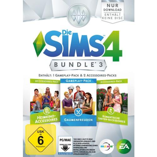 Die Sims 4 Bundle 3 Gaumenfreuden HeimkinoAccessoires Romantische GartenAccessoires